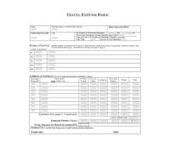 Expences Forms Travel Expense Form Template
