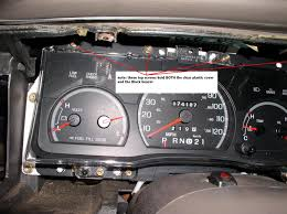 2003 Ford Ranger Instrument Cluster Light Bulbs How To How To Access And Replace Dash Guage Or Instrument