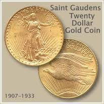 Saint Gaudens 20 Dollar Gold Coin Gold Coins 20 Dollar