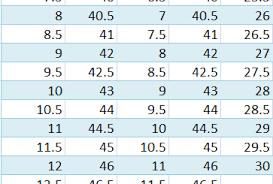 Puma Shoe Size Chart Men Latest Nike Shoe Size Chart For Men Best Mens Footwear
