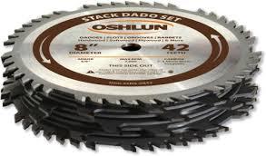 dewalt dado blade. oshlun sds-0842 8-inch 42 tooth stack dado set with 5/8 dewalt blade h
