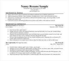 Example Of Nanny Resumes Nanny Resume Skills