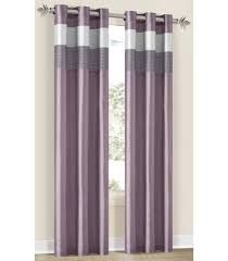 Plum Shower Curtains Lavender Silver Plum Grommet Window Curtain