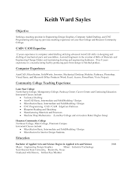 Objective Of Seeking A Teaching Position With Resume Lines And