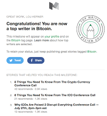 the six things i did to become a ldquo top writer rdquo on medium in bitcoin to be honest i wasn t even aware that there was a ldquotop writerrdquo status given on medium after clicking on the ldquolearn morerdquo link in the email i learned that