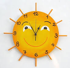 LITTLE MISS SUNSHINE Hand Painted Wall Clock by TammnoonyKids, $38.90