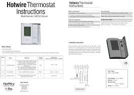manual thermostat instructions manualzz