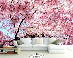 cherry blossom painting photo wallpaper stereo cherry blossom wall painting cherry blossom tree japanese painting