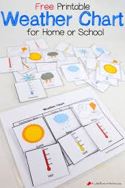 Chart Activities For Preschool Free Printable Weather Chart For Home Or School Weather