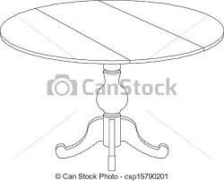 round table clipart black and white. pin drawn table clip art #13 round clipart black and white