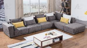 American Eagle AE L2361 Gray Fabric 6Pcs Sectional Sofa Set