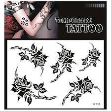 239 Tetování Samolepky Netoxický Vzor Spodní části Zad Vodotěsné Květina Série Dospělý červená Zelená Kniha 1 17 16
