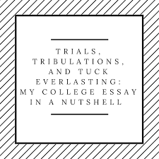 trials tribulations and tuck everlasting my college essay in a  trials tribulations and tuck everlasting my college essay in a nutshell aura 32