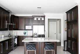 Dark Maple Kitchen Cabinets Kitchen Dark Maple Kitchen Cabinet With Light Brown Wall Color