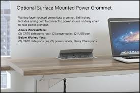 my hite desks true commercial grade optional worksurface mounted power grommet click for larger view