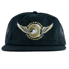 spitfire cap. spitfire x antihero classic eagle mesh trucker hat black cap