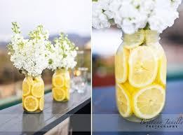 Decorations Using Mason Jars DIYsunflowercenterpieces Sliced Lemon in Mason Jar 9