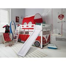 bunk bed with slide and tent. Cabin Bed Midsleeper With Slide \u0026amp; Campervan Tent And Tunnel Bunk T