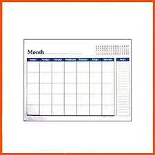 48 X Desk Pad Monthly Planner Calendar Blank Calendar