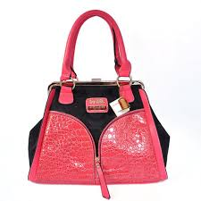 Coach Madison Carrie Embossed Medium Pink Satchels ADE