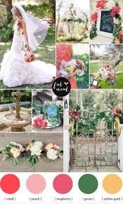 Garden Wedding Ideas Coral Raspberry Wedding Colours
