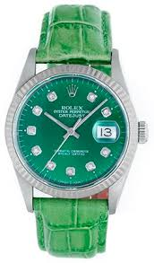 17 best images about rolex watches for men rolex rolex datejust men s stainless steel watch green diamond dial green leather band 16014