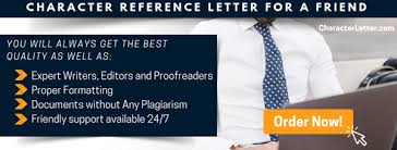 Pattern Of Reference Letter Help Write A Character Reference Letter For A Friend On