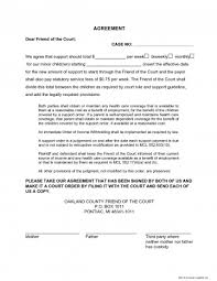 Voluntary Child Support Agreement Template Voluntary Child Support ...