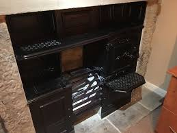 details about antique victorian cast iron kitchen cooking range fireplace hob architectural