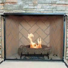 pilgrim craftsman fireplace screen vintage iron 39 x 31