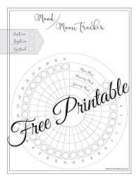 Mood And Moon Tracker Free Printable Imperfections Abound