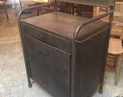 Vintage metal furniture Top Table Vintage Vintage Metal Cabinet Joanlumagbasinfo Metal Cabinet Etsy