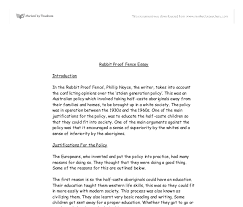 rabbit proof fence essay review gcse science marked by  document image preview