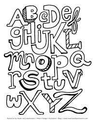 Free Printable Alphabet Letters Coloring Pages Letter Book The Page