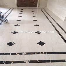 Modern marble flooring design with various stone types