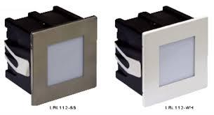 lrl112 plain recessed wall light