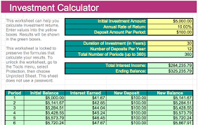 Investment Calculator Template For Numbers Free Iwork Templates