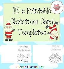 Christmas Card Template For Kids Free Printable Cards Templates