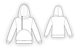 Sweatshirt Pattern Amazing Hoodie Sewing Pattern 48 Madetomeasure sewing pattern from