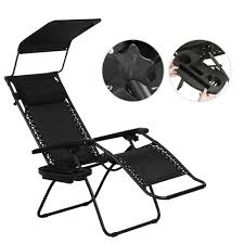 foldable zero gravity canopy sunshade lounge chair