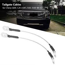 review] 1pair pickup truck tailgate tail gate cables fit for chevy ...