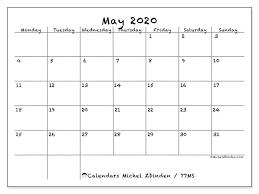 Calendar May 2020 May 2020 Calendar 77ms Michel Zbinden En