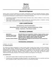 Cool Example Cv Structural Engineer Junior Resume Sample And Core  Competencies Plus Technical Summary 8 Structural ...