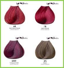 Dark Auburn Hair Color Chart