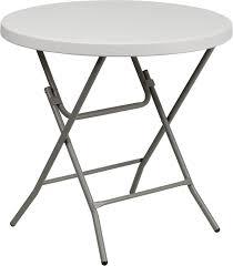 32 round granite white plastic folding table