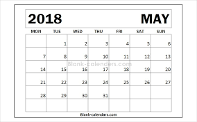 month template 2018 online may 2018 calendar monday start templates 2018 may month