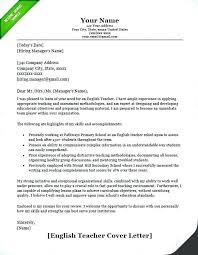 Educator Cover Letter English Teacher Cover Letter Example