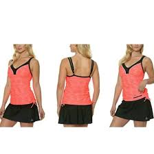 Gerry Ladies 2 Piece Tankini Skort Swimsuit Set Md