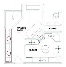 master bathroom floor plans design plan with walk in closet layouts ideas