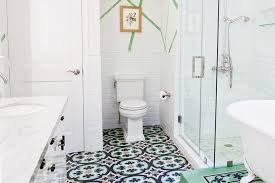 Patterned Bathroom Floor Tiles